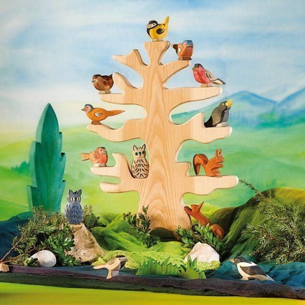 Figura legno Albero per uccelli - Ostheimer 3030