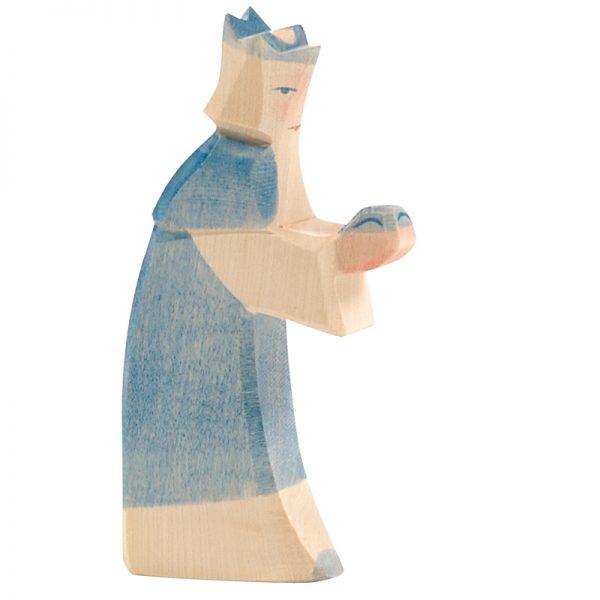 Figura legno Re magi blu - Ostheimer