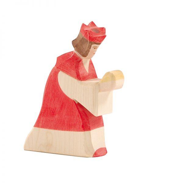 Figura legno Re magi rosso - Ostheimer