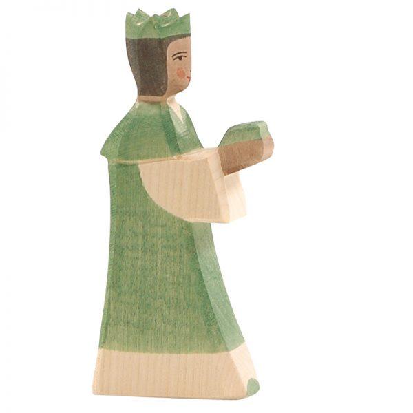 Figura legno Re magi verde - Ostheimer