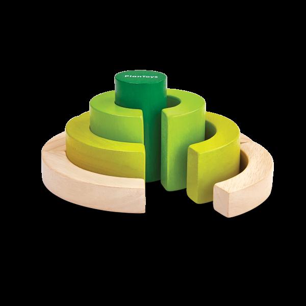 Gioco logico matematico curve blocks Plan Toys
