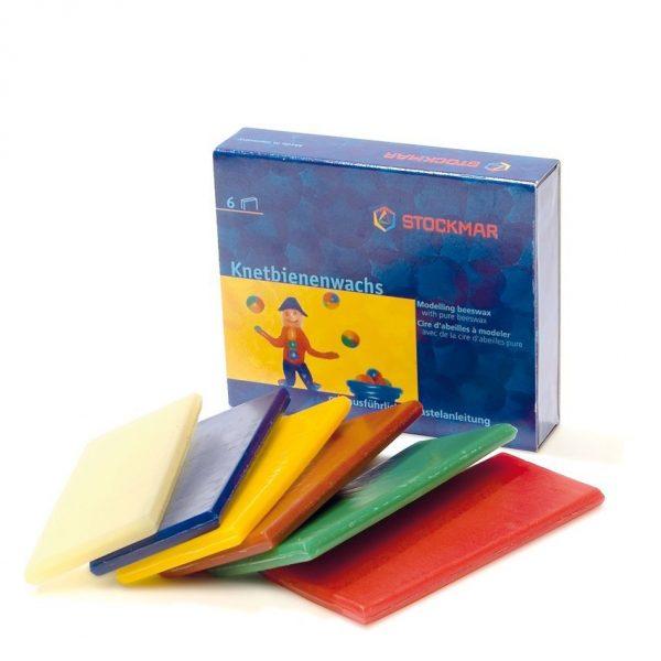Set 6 fogli cera da modellare scatola Stockmar