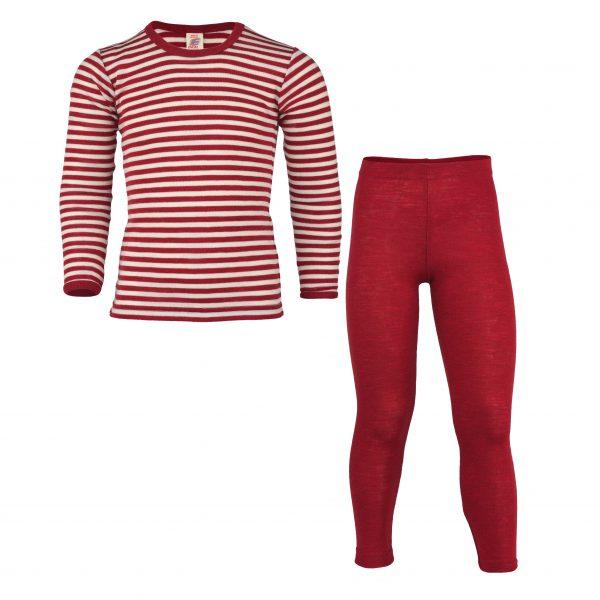 Completo maglia pantalone 100% lana rot melange Engel Nature