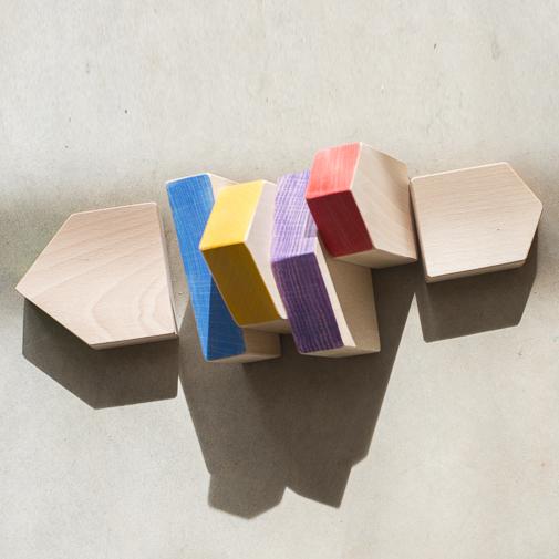 Set case arcobaleno legno Grapat