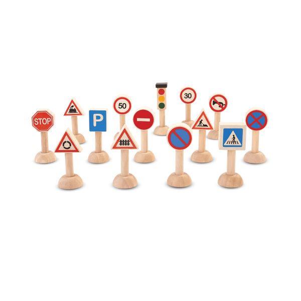 Set gioco segnaletica stradale Plan Toys