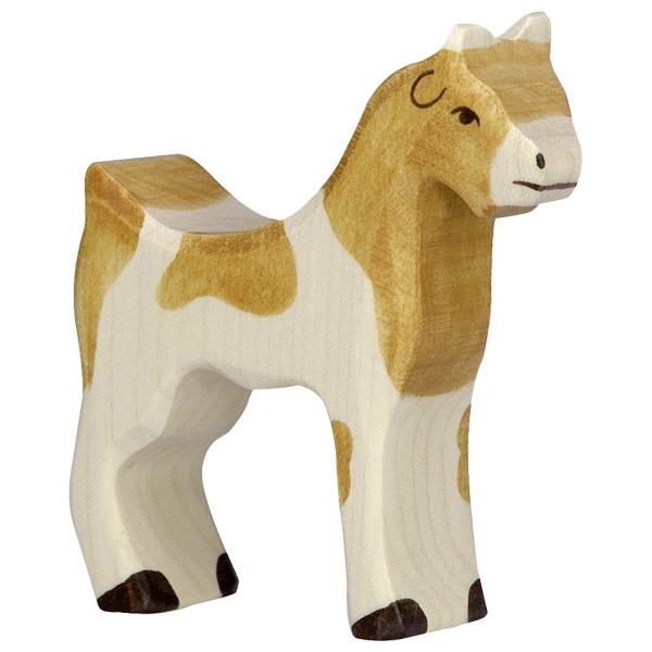Figura legno Capra in piedi - Holztiger