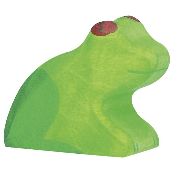Figura legno rana verde - Holztiger
