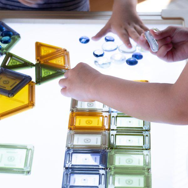 Set costruzioni PowerClix® Solids Natural 70 pezzi Guide Craft