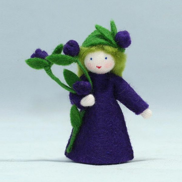Figura Waldorf Fata Summer Blueberry Ambro-dolls