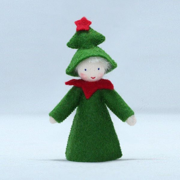 Figura Waldorf Fata Winter Christmas Tree Ambro-dolls