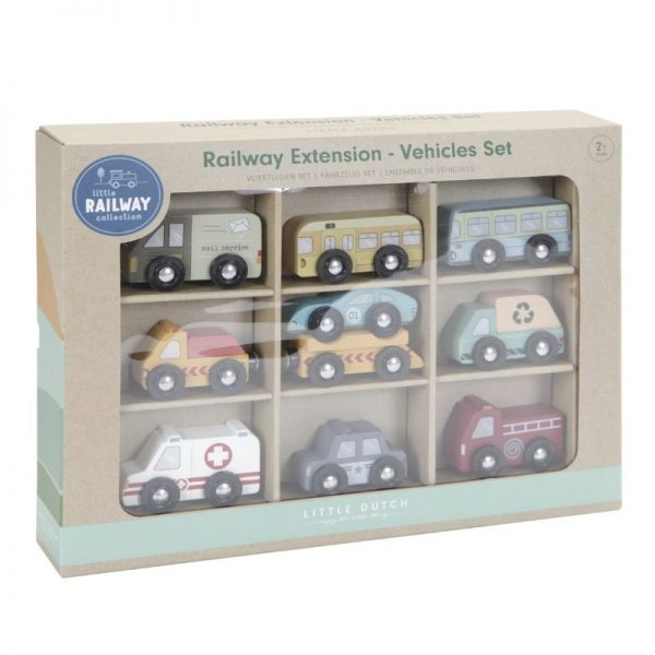 Set 9 veicoli estensione Railway Little Dutch