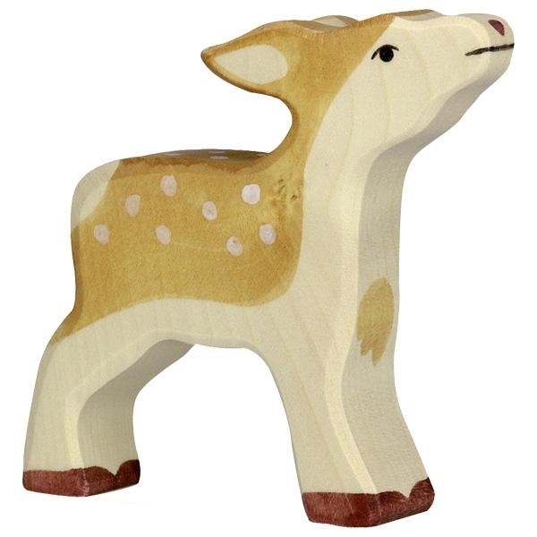 Figura legno cerbiatto - Holztiger