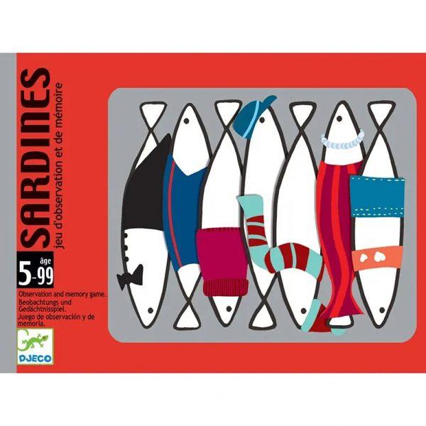 Gioco carte Sardines impeccabile memoria e grande velocità Djeco