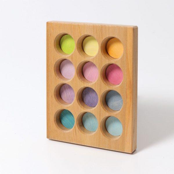 Gioco tavoletta associazione colori pastello Grimm's