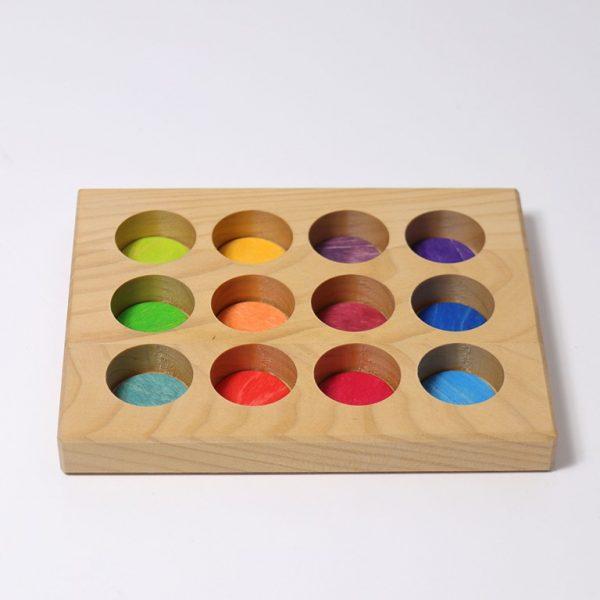 Gioco tavoletta associazione colori primari Grimm's