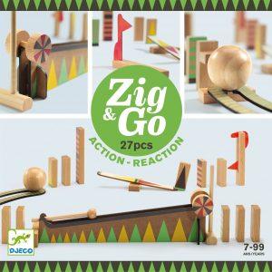 Pista azione reazione ZIG & GO Curve 27 pezzi Djeco