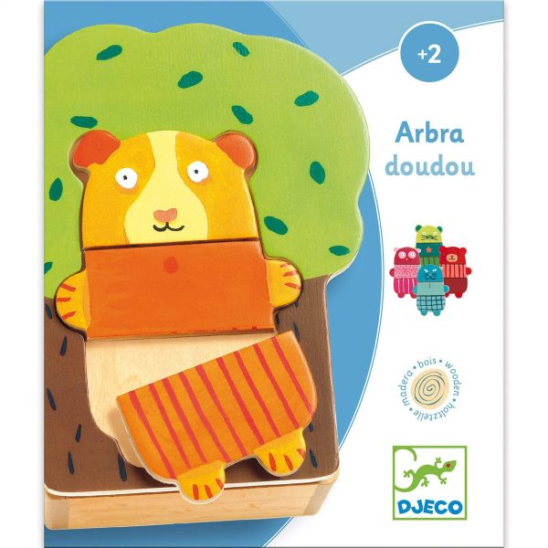 Puzzle dei personaggi Arbra doudou Cuddly Tree Djeco
