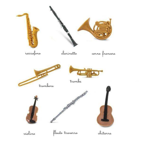 Set 8 miniature degli strumenti musicali TOOB® Safari LTD