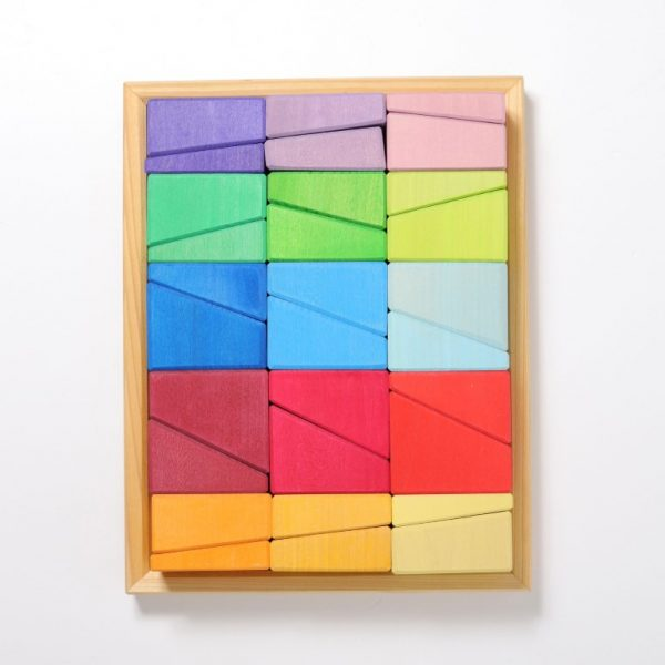 Set costruzioni rainbow Sloping Blocks Grimm's
