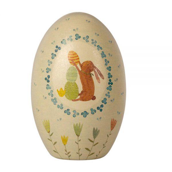 Uovo di Pasqua in metallo verde Maileg