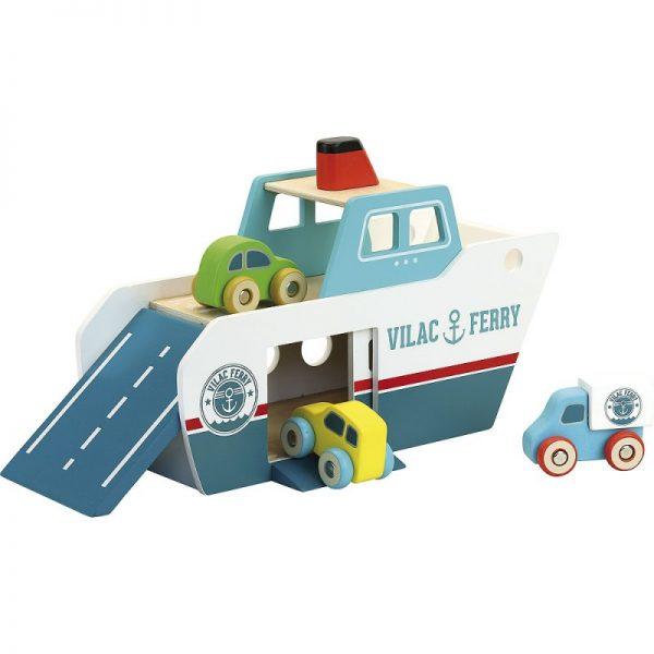 Vilacity set ferry boat + 3 macchinine Vilac