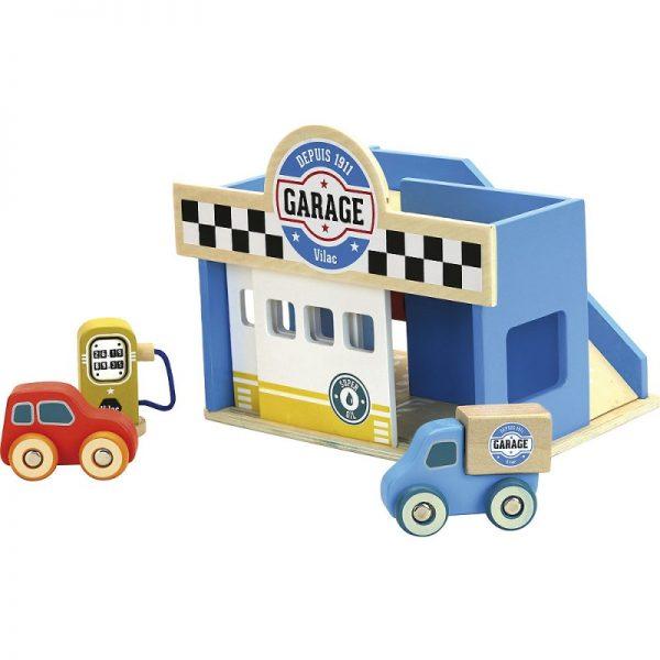 Vilacity set mini garage + 2 macchinine Vilac