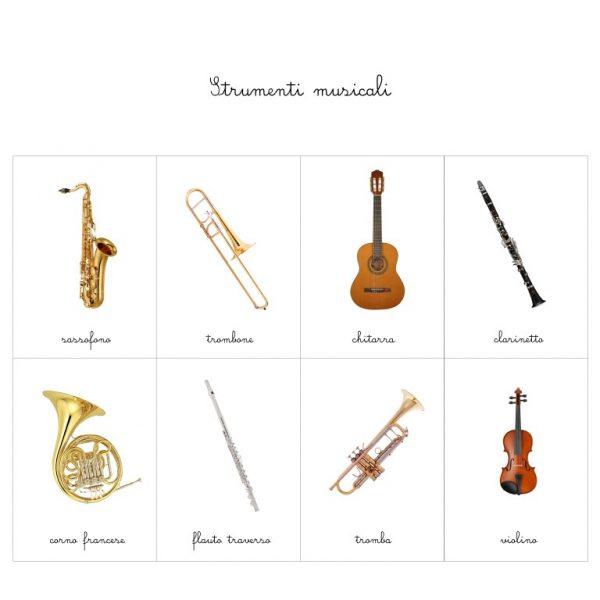 Carte delle nomenclature Strumenti musicali Baboo