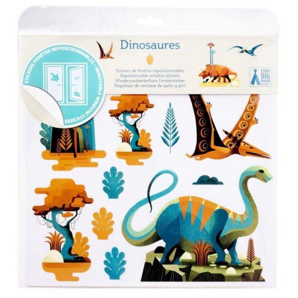 Adesivi riposizionabili per finestra Dinosauri Djeco