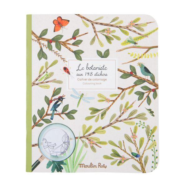 Album da colorare con adesivi Il Botanista Le Jardin Moulin Roty