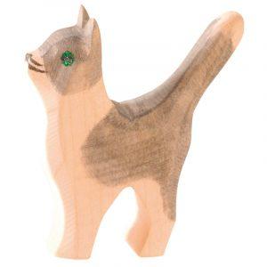 Figura legno gatto coda su - Ostheimer