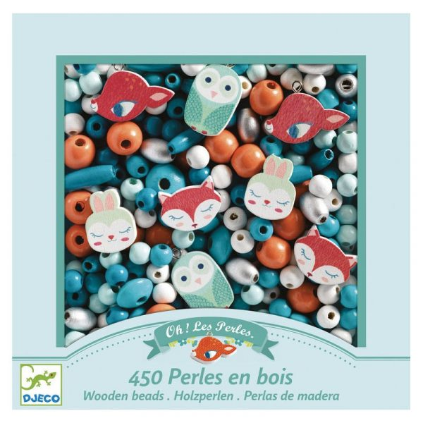 Kit perline per collane e braccialetti Little animals Djeco