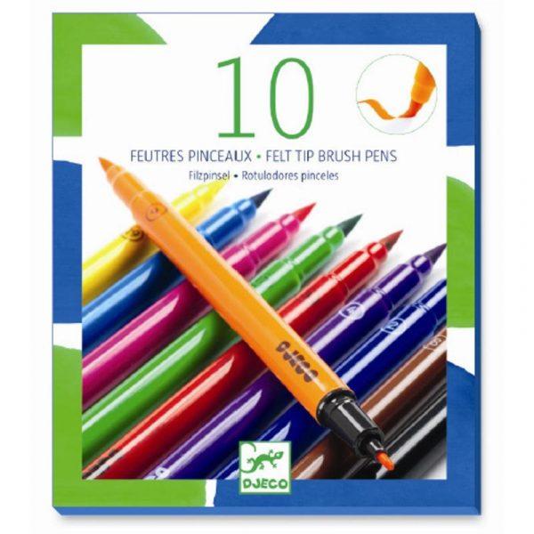 Set 10 pennarelli doppia punta colori classici Djeco