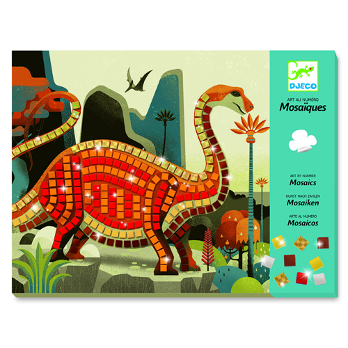 Set artistico Mosaico Dinosauri Djeco