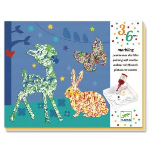 Set artistico PAINTING WITH MARBLES Colourful parade Djeco