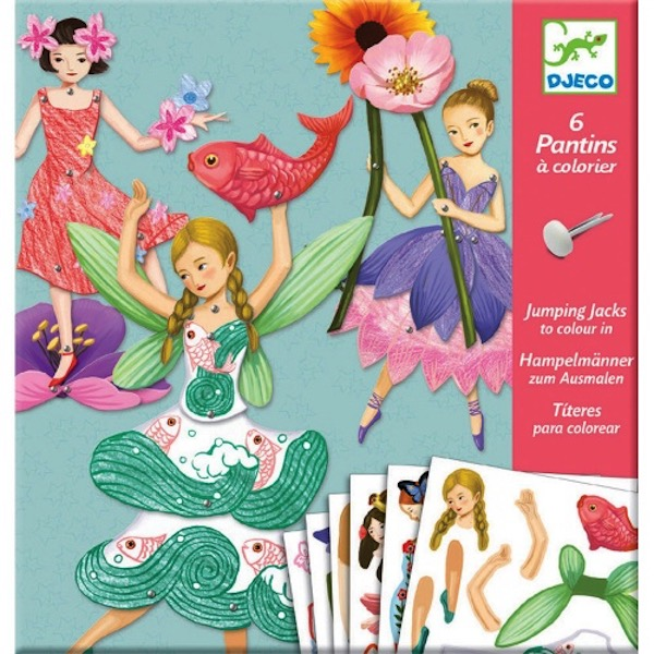Set artistico marionette di carta Fate Djeco