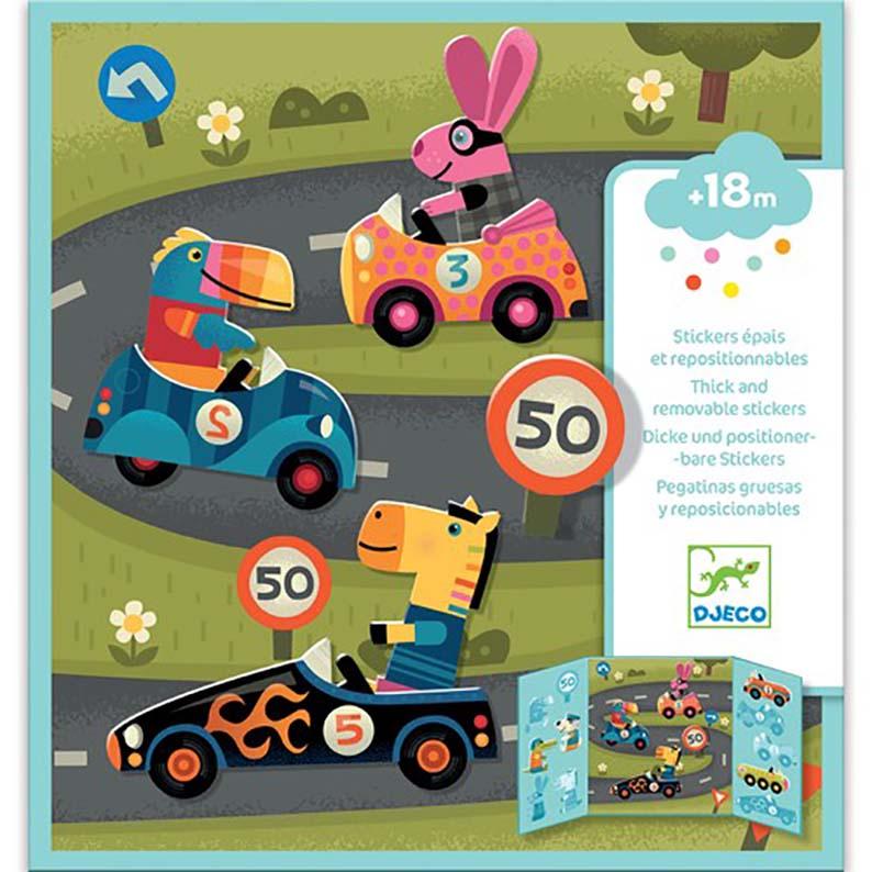 Set da viaggio stickers riposizionabili Corsa Djeco
