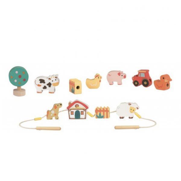 Set gioco perle da infilare animali fattoria Egmont Toys