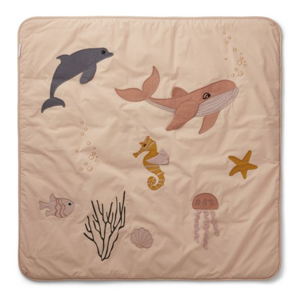Tappeto attività Glenn Activity Blanket Sea creature mix rose LIEWOOD