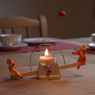 Dondolo degli gnomi a candela Kraul