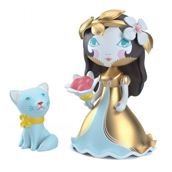 Figura in vinile Arty Toys Princess Eva & Ze Cat Djeco