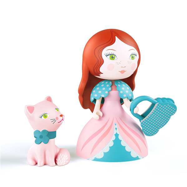 Figura in vinile Arty Toys Princess Rosa & Cat Djeco