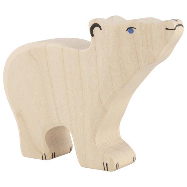 Figura legno Orso polare piccolo - Holztiger
