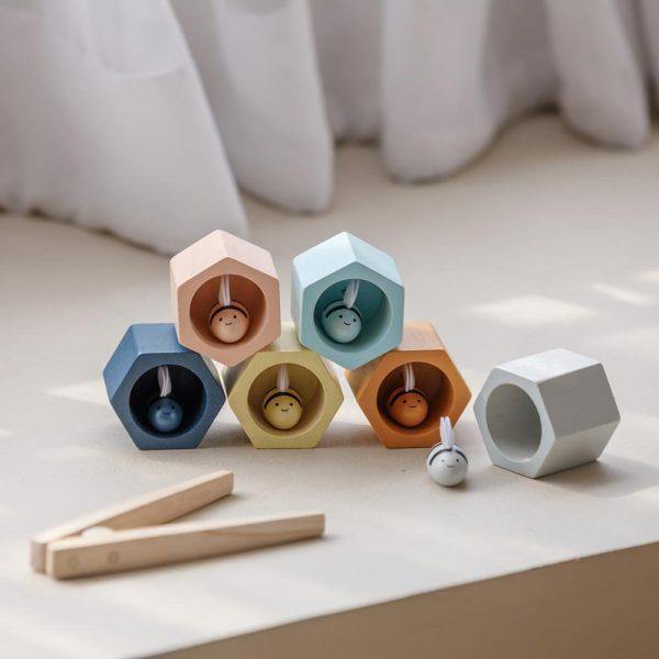 Gioco classificazione colori Beehives Orchard Plan Toys