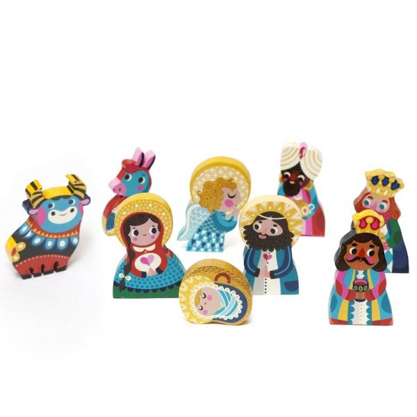 Nativity Set in legno Petit Monkey