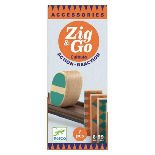 Pista azione reazione ZIG & GO estensione Culbuto 7 pezzi Djeco