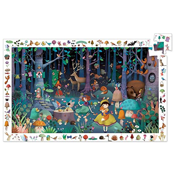 Puzzle di osservazione Foresta Incantata 100 pezzi Djeco