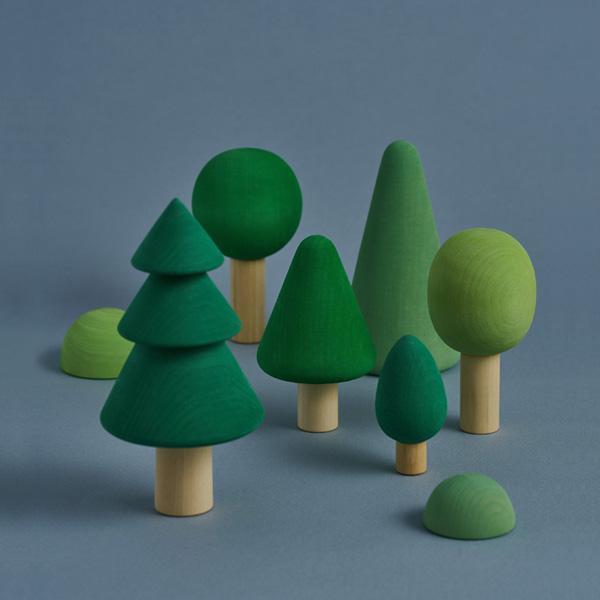 Set 8 alberi Forest verde Raduga Grez