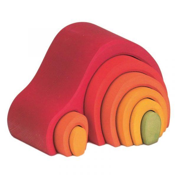 Casa-collina impilabile arcobaleno rosso 8 pezzi Gluckskafer