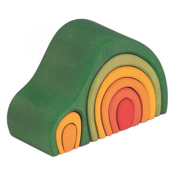 Casa-collina impilabile arcobaleno verde 8 pezzi Gluckskafer