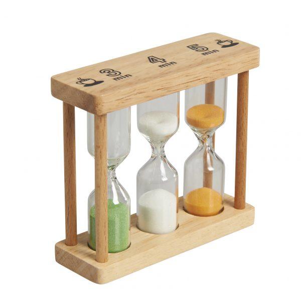 Clessidra segna tempo in legno Gluckskafer